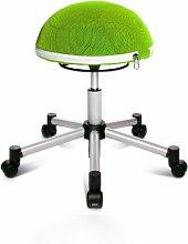Topstar SH17BB5 Fitness-Hocker Sitness Half Ball /Stoffbezug, apfelgrün