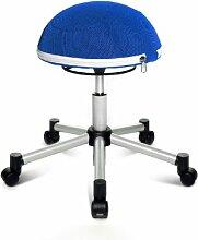 Topstar SH17BB6 Fitness-Hocker Sitness Half Ball /Stoffbezug, blau