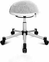 Topstar SH17BB7 Fitness-Hocker Sitness Half Ball /Stoffbezug, weiß