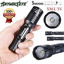 TopTen Fan-Motive Handheld Taschenlampe, 2500Lumen 5Leuchtmodi zoomable Camping LEDs Licht Taschenlampe für Angeln Jagd Wandern und Outdoor Aktivitäten