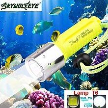 TopTen Fan-Motive Tauchen Taschenlampe, 1200Lumen Wasserdichte Handheld Camping Licht Unterwasser 130m für Angeln Jagd Wandern und Outdoor Aktivitäten
