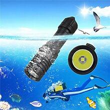 TopTen Fan-Motive Tauchen Taschenlampe, 1200Lumen Wasserdichte Handheld Camping Licht Unterwasser 100m für Angeln Jagd Wandern und Outdoor Aktivitäten