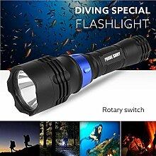 TopTen Fan-Motive Unterwasser Taschenlampe, 1200Lumen 500m Tauchen Wasserdicht Handheld Camping Licht für Angeln Jagd Wandern und Outdoor Aktivitäten