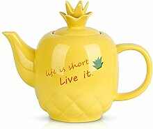 Toptier Keramik-Teekanne, große Teekanne mit