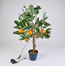 TOPtVERSAND LED Solar Mandarinen-Baum 90cm Orangen