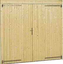 Tor für Garage–Box Auto aus Holz Garten 3054/3454Gartenpro Stahlgerätehaus