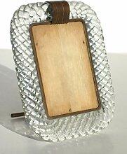 Torchon Bilderrahmen aus Messing & Glas von