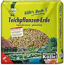 Torffreie Teichpflanzenerde 8 Liter – Wasserpflanzenerde, Sumpfpflanzenerde – Gärtnerqualität von Kölle's Beste