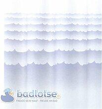 TORINO 422 Duschvorhang Vinyl 180 x 200 cm weiß/blau Wellen Meer Vorhang Wanne