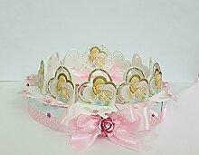Torte Bomboniere Ikonen Heilige Familie rund auf Kuchen 12Scheiben + Zentrale Taufe Kommunion Konfirmation