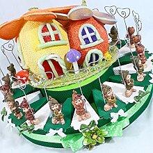 Torte Bonbonniere mit Elfen und Federn für