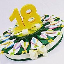 Torte Gastgeschenk 18Jahre mit Baloons Magnete