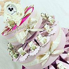 Torte Gastgeschenk Bären rosa Geburt Taufe
