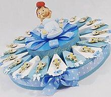 Torte Gastgeschenk für Taufe Geburt Rassel Magnet
