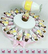 Torte Gastgeschenk Karton pink verziert mit