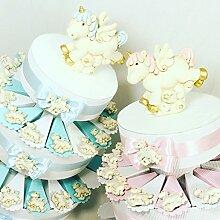 Torte Gastgeschenk Magnet Einhorn mit Nuancen Pink