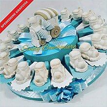 Torte Gastgeschenk mit angetriebenen aus Porzellan