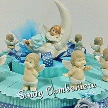 Torte Gastgeschenk mit Engel und Mond Porzellan