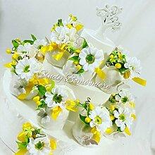 Torte Gastgeschenk mit Säckchen für Konfirmation
