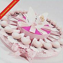 Torte Gastgeschenk zur Taufe mit Herzen Magnete