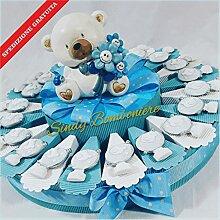 Torte Taufe Globus Bären Magnete Himmlische