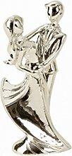 Tortenaufsatz Tortenfigur Dekofigur Cake Topper Brautpaar Hochzeitspaar Silberpaar Silberhochzeit Silberne Hochzeit | 11 cm (Tanzend)