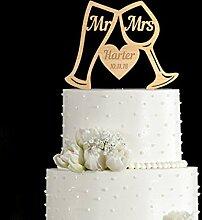 Tortenaufsatz Weinglas für Hochzeitstorte,