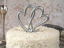 Tortendeko zur Hochzeit Silberhochzeit Herzen