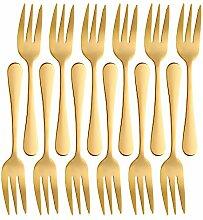 Tortenheber, Messer und Gabel 12pieces forks gold