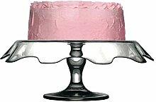 Tortenständer mit Fuß Servierplatte Tortenglas,