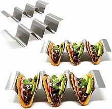 Tortilla – Taco-Halter, Ständer, Edelstahl, 4