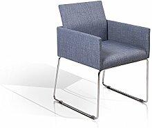 TORY Polstersessel Sessel Esszimmerstuhl Esstischstuhl Stuhl Polsterstuhl Armlehnenstuhl blau, blau