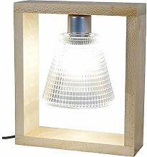 Tosel 64402Triumph Lampe Holz Buche massiv/Glas