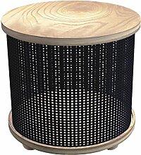 Tosel Justine Tisch Truhe, Massiv, Holz, schwarz,