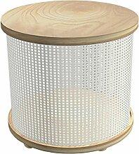 Tosel Justine Tisch Truhe, Massiv, Holz, Weiß,