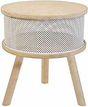 Tosel Lucienne Tisch Truhe, Massiv, Holz, Weiß,
