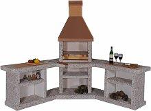 Toskana Kupfer Grillkamin Außenküche / Wellfire