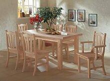 Toskana Tisch Esstisch 120 x 80 cm Pinie Massiv