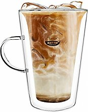 TOSSOW Kaffeetasse aus Glas, doppelwandig,