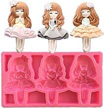 TOSSPER 3 Mädchen Prinzessin Form Silikonform