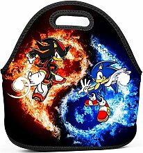 Tote Cooler Bag,Black Blue Shadow Hedgehog