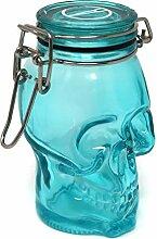 Totenkopf 100ml bunten Glas Luftdichter