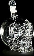 Totenkopf Glas-Flasche mit Verschluß