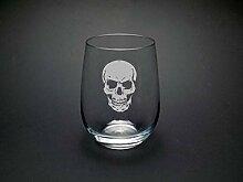 Totenkopf-Glas Gothic Glas Gothic Totenkopf Glas