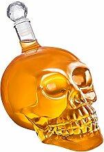 Totenkopf-Karaffe - Schädel-Flasche aus Glas mit