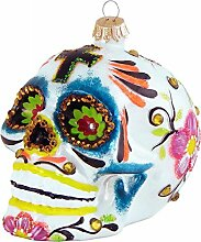 Totenkopf mit mexikanischer Dekoration 10cm