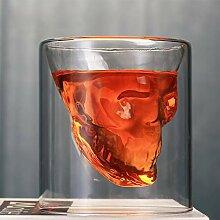 Totenkopf-Weinglas-Becher Kristall Bier Whiskey