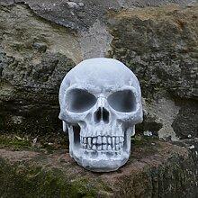 Totenschädel Totenkopf Schädel Halloween Skelett Dekoschädel Steinguss frostfes