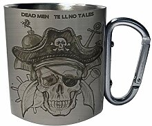 Toter Totenkopf-Pirat Edelstahl Karabiner