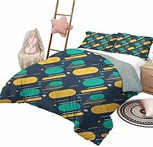 Totun Geometrisches Bettwäscheset Teenager-Muster